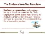 the evidence from san francisco1