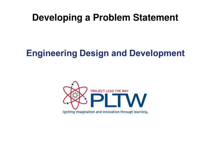 developing a problem statement n.