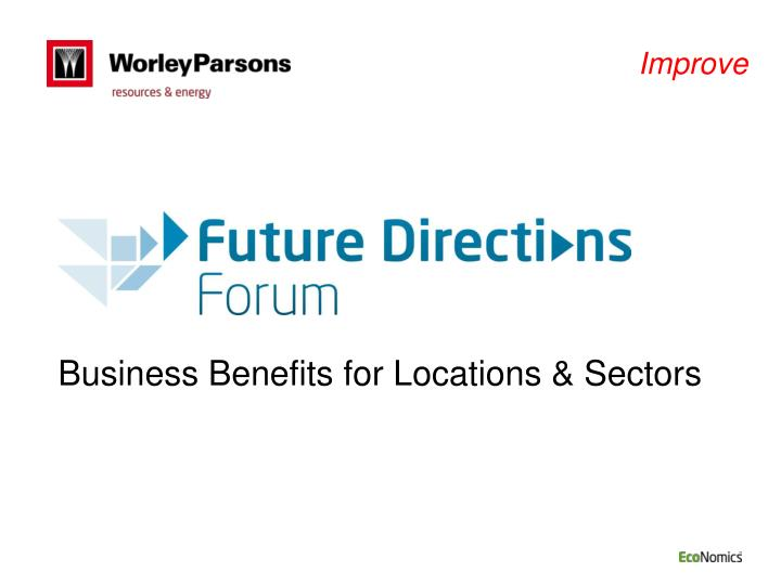 business benefits for locations sectors n.