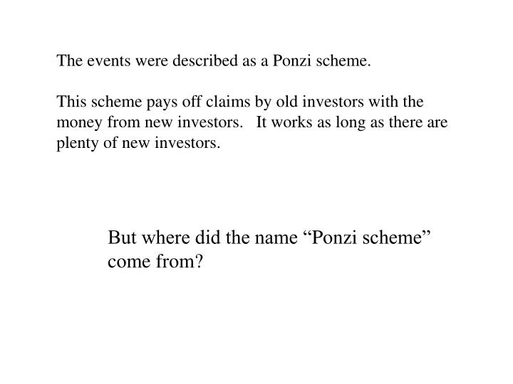 The events were described as a