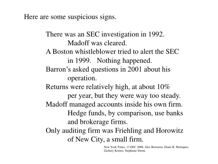Here are some suspicious signs.