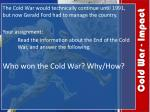 cold war impact