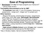 ease of programming