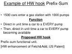 example of hw hook prefix sum