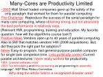 many cores are productivity limited1