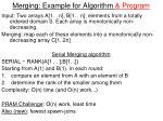 merging example for algorithm program