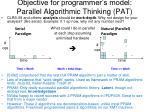 objective for programmer s model parallel algorithmic thinking pat