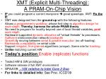 xmt explicit multi threading a pram on chip vision