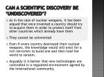 can a scientific discovery be undiscovered2