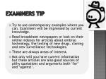 examiners tip1