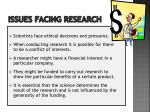 issues facing research