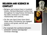 religion and science in conflict