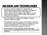 religion and technologies