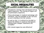 social inequalities