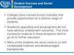 student success and social development