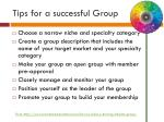 tips for a successful group