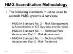 hmg accreditation methodology