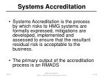 systems accreditation