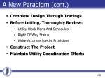 a new paradigm cont