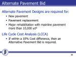 alternate pavement bid