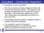 consultant construction inspection