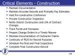 critical elements construction