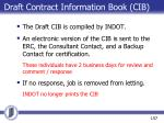 draft contract information book cib