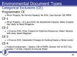environmental document types