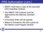 fmis authorization cont
