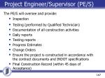 project engineer supervisor pe s1