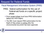 request for federal funds