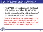 the pre construction conference