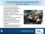 career coordinator and growing your advisory board