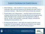 career coordinator competencies