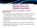 monetary theory i the aggregate demand and aggregate supply model1