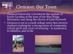 clemson our town