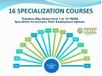 16 specialization courses
