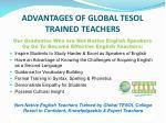 advantages of global tesol trained teachers