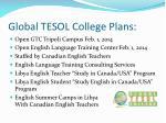 global tesol college plans
