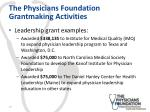 the physicians foundation grantmaking activities1
