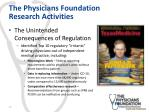 the physicians foundation research activities5