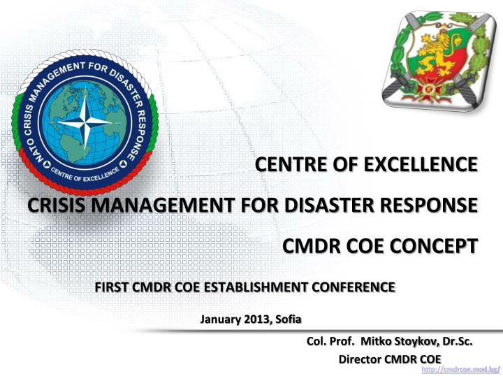 centre of excellence crisis management for disaster response cmdr coe concept n.