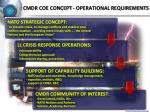 cmdr coe concept operational requirements