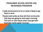 prosumer action center job readiness program