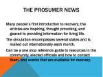 the prosumer news
