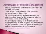 advantages of project management