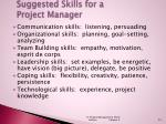 suggested skills for a project manager