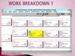 work breakdown 1
