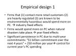 empirical design 1