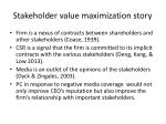 stakeholder value maximization story